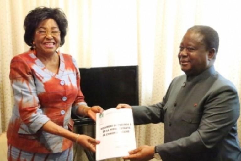 Henri Konan Bédié reçoit l'émissaire de l'UA