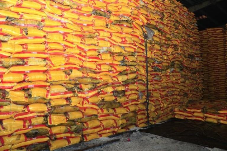 Le riz avarié sera détruit le 16 avril