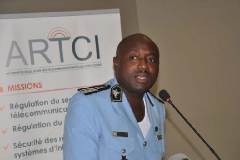 Le commissaire Doumbia Yaya lors de la présentation du bilan de la police sur la Cybercriminalité