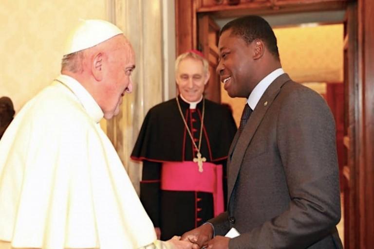 Faure Gnassingbé a échangé avec le Pape François