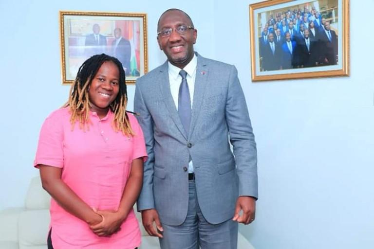 Nash et le ministre Souleymane Diarrassouba