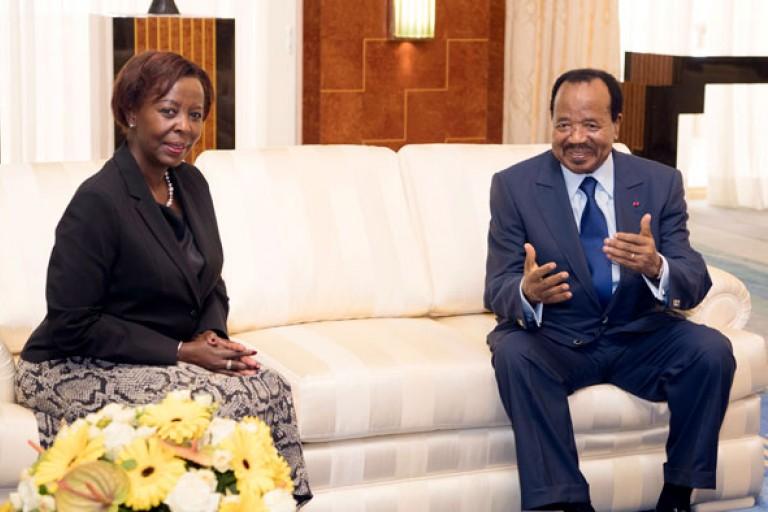 Paul Biya reçoit la SG de la Francophonie