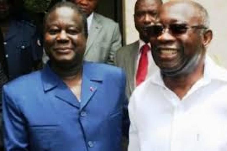 Visite d' Henri Konan Bédié à Laurent Gbagbo