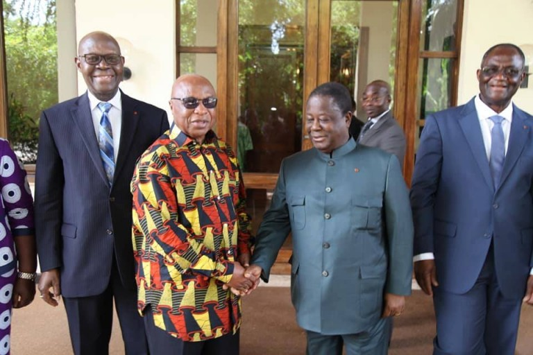 Henri Konan Bédié du PDCI-RDA a reçu l'émissaire de Gbagbo Assoa Adou