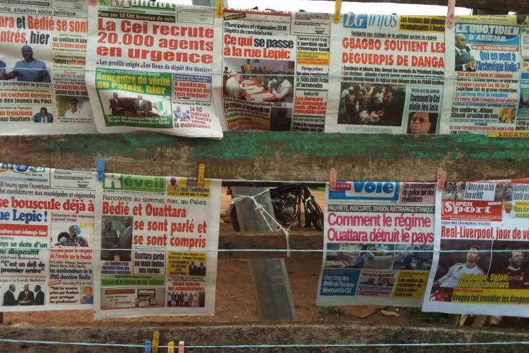Titrologie: Revue de presse de Côte d'Ivoire du 15 mai 2019