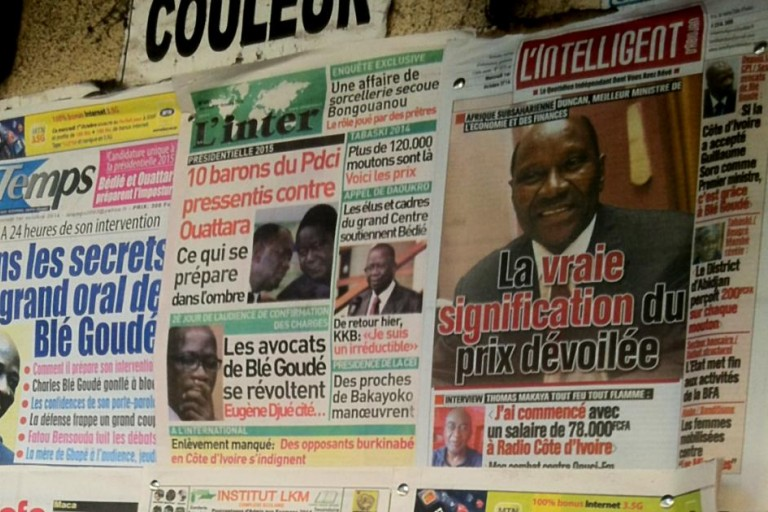Titrologie: Revue de presse de Côte d'Ivoire du 23  mai 2019