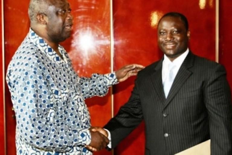 Guillaume Soro et Laurent Gbagbo