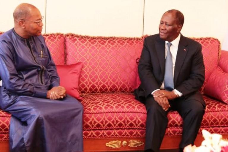 Entretien Alassane Ouattara et Mohamed Ibn Chambas