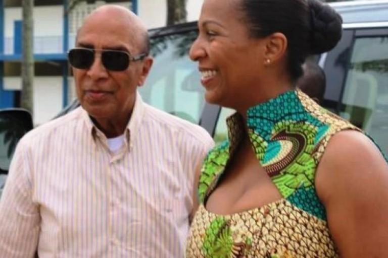 Yasmina Ouegnin et son père