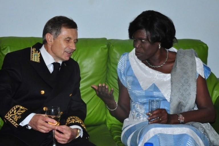 Simone Gbagbo et l'ambassadeur russe