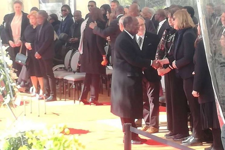 Alassane Ouattara aux obsèques de sa belle-fille