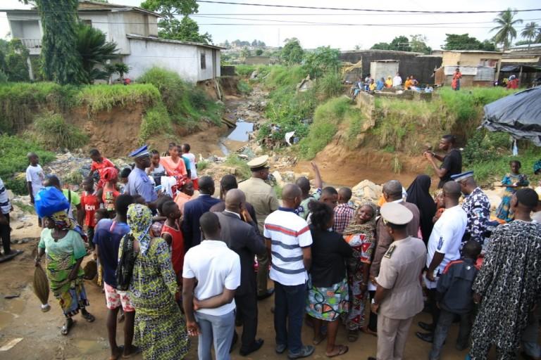 A Anyama, il y a 48h, une forte pluie s'est abattue sur la ville