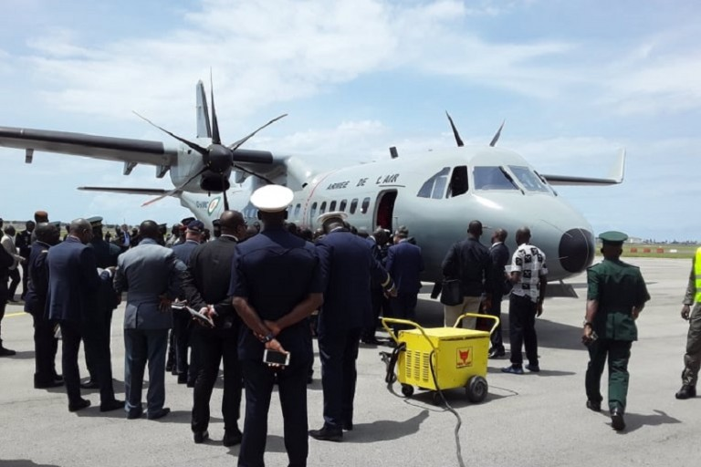 Une base de l' armée de l'air à Daloa