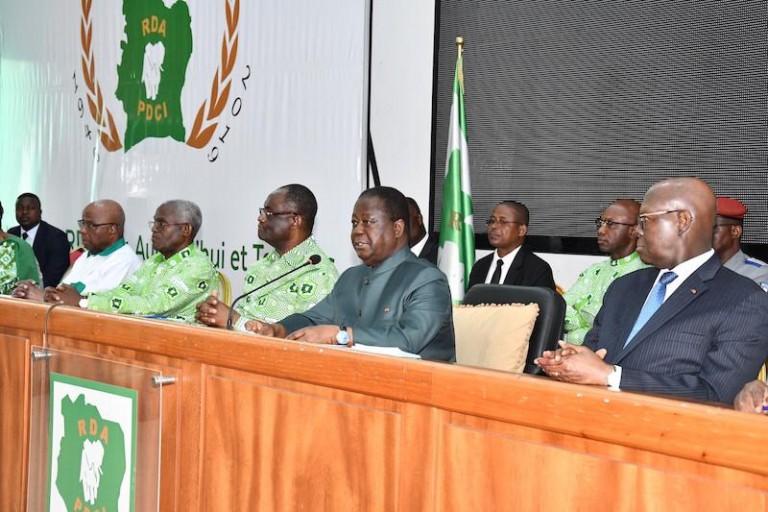 Henri Konan Bédié a rencontré les délégués du PDCI-RDA