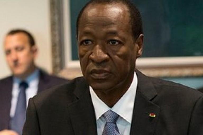 Blaise Compaoré, ex chef d'Etat burkinabé