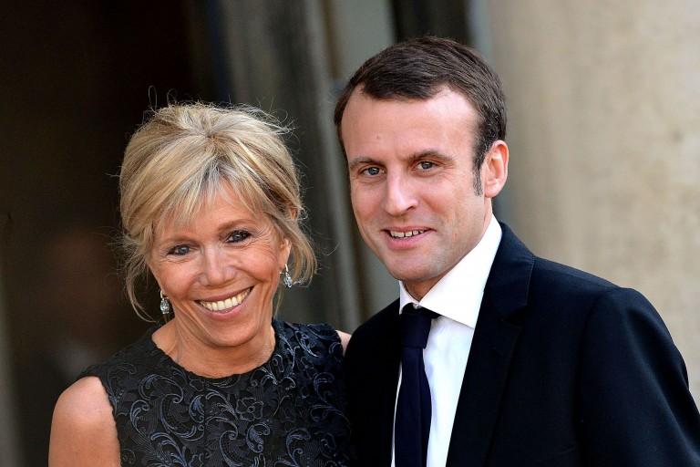 Emmanuel Macron et son épouse