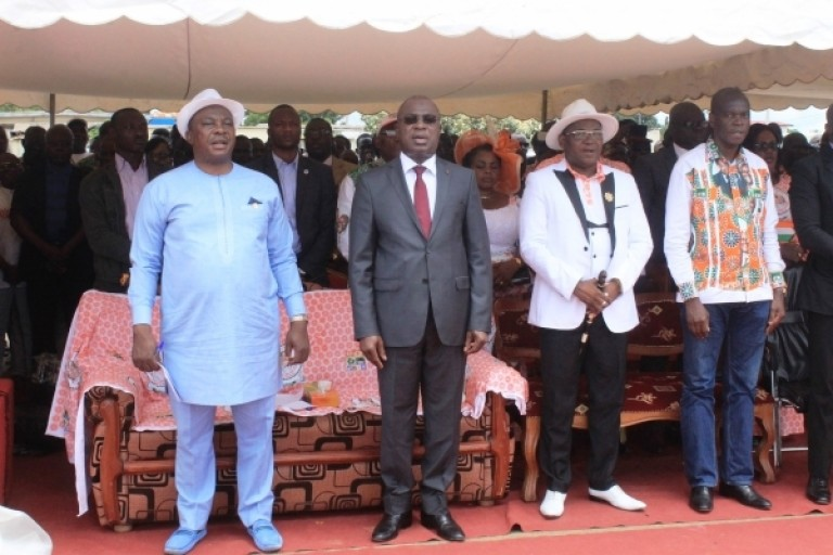 Le ministre Adjoumani à l'investiture de Serey Doh.