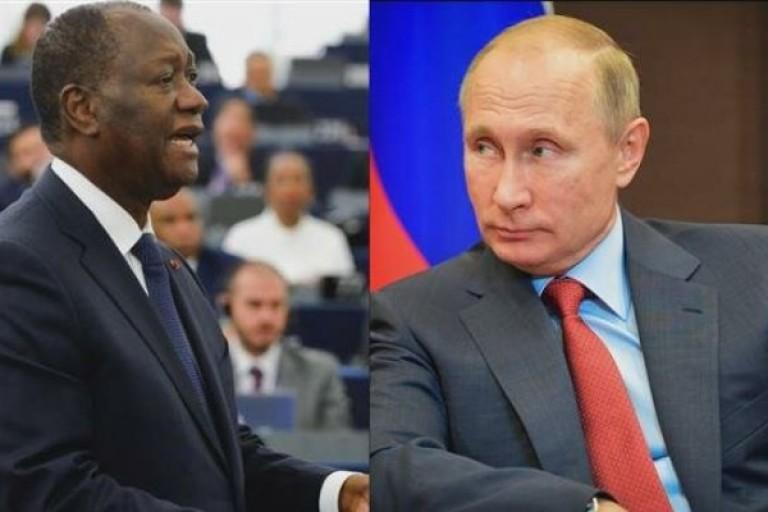 Alassane Ouattara en visite chez Poutine en octobre