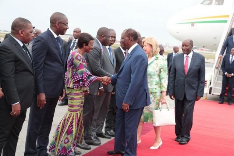 Alassane Ouattara est rentré à Abidjan