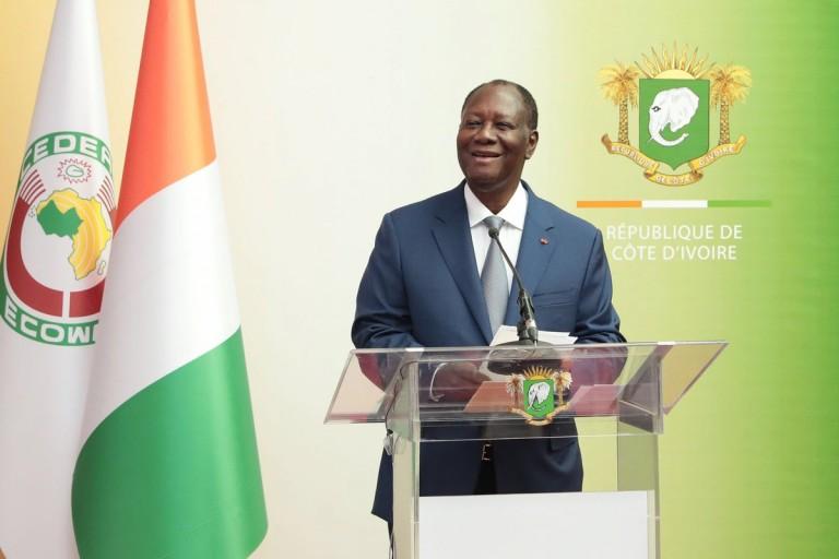 Alassane Ouattara parle de l'entrée en vigueur de l' Eco