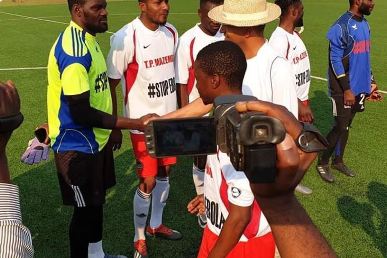Sylvain Gbohouo et le TP Mazembe contre Ebola.
