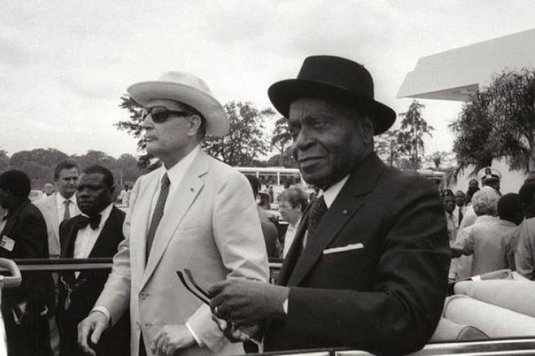 Félix Houphouët-Boigny et  François Mittérand
