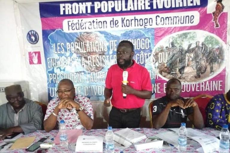 Koua Justin ressuscite le parti de Gbagbo au nord