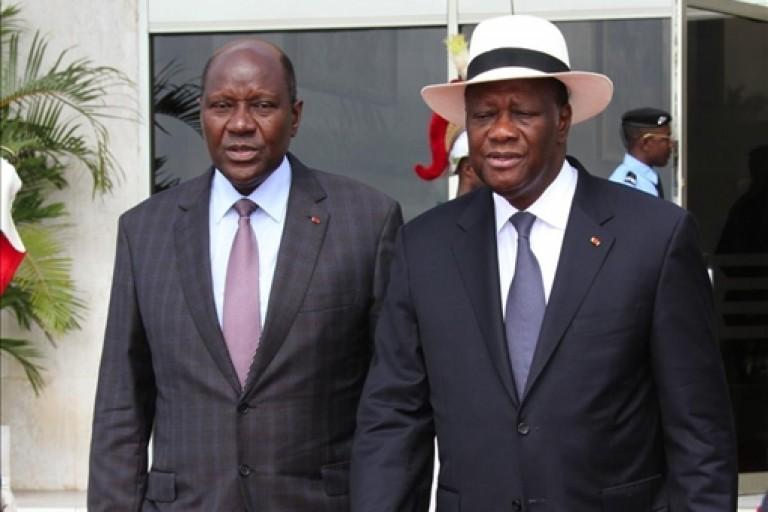 Alassane Ouattara et Daniel Kablan Duncan, deux anciens Premiers ministres ivoiriens