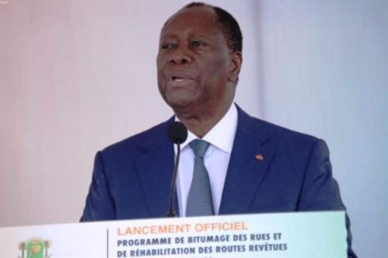 Alassane Ouattara à Yamoussoukro