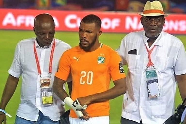 Serey Dié après son penalty manqué à la Can 2019