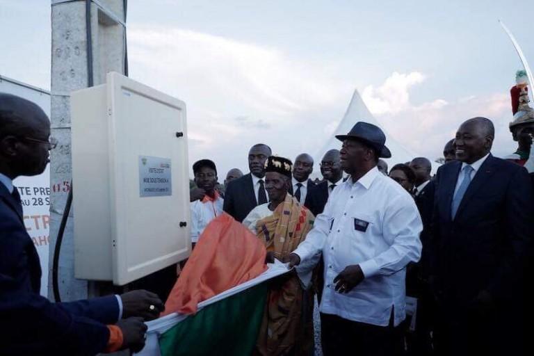 Alassane Ouattara en visite dans le N'zi