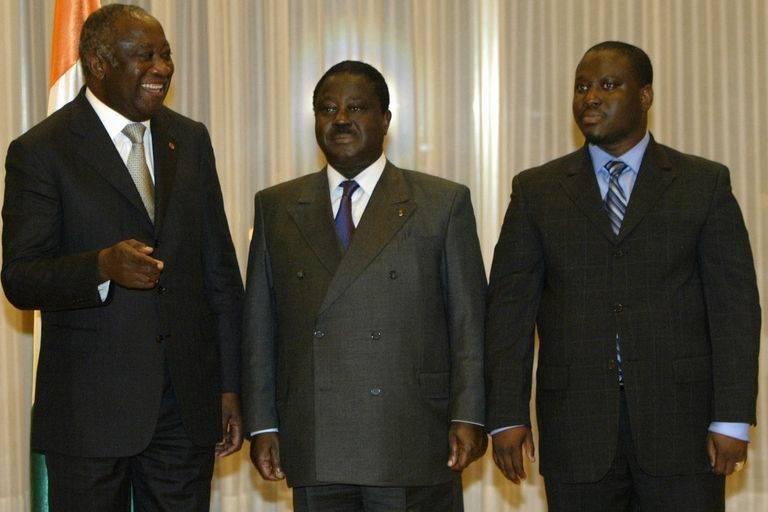 Le trio Laurent Gbagbo (à gauche), Henri Konan Bédié (au milieu) et Guillaume Soro pourra mettre fin au régime d'Alassane Ouattara en 2020