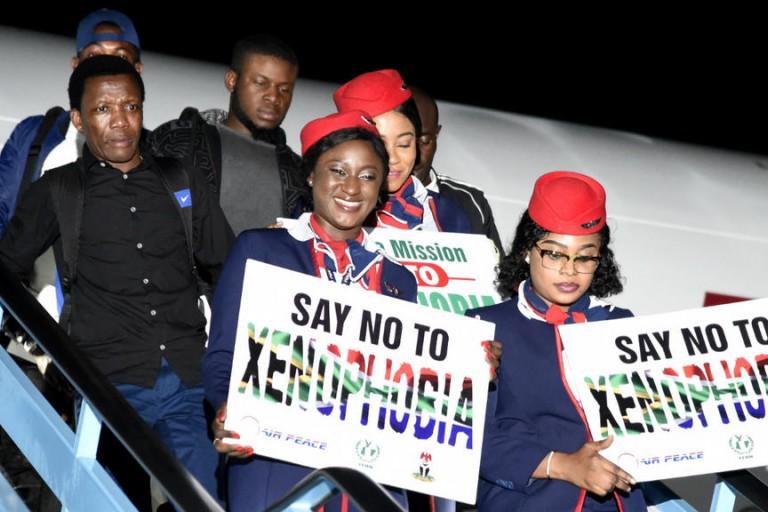 Le Nigeria rapatrie 200 ressortissants en provenance de l' Afrique du Sud