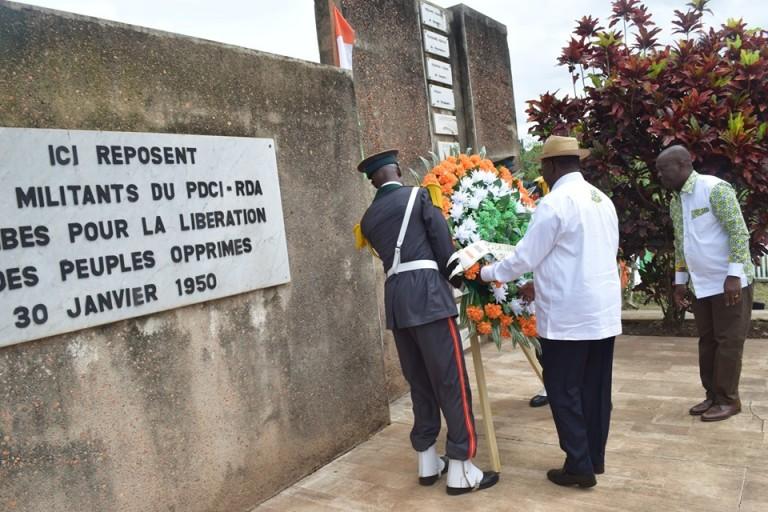 Alassane Ouattara se souvient des pionniers du PDCI