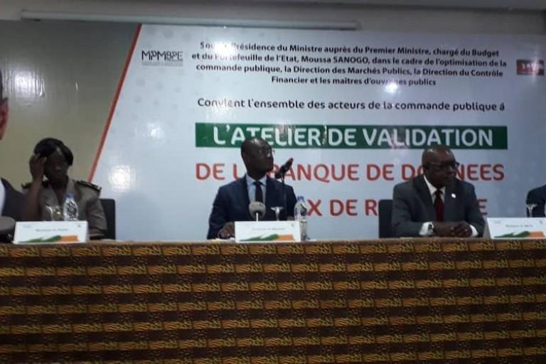 Le ministre Moussa Sanogo, a présidé l'atelier de validation de la banque de donnée des prix de référence
