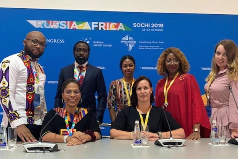Nathalie Yamb au Sommet Russie-Afrique