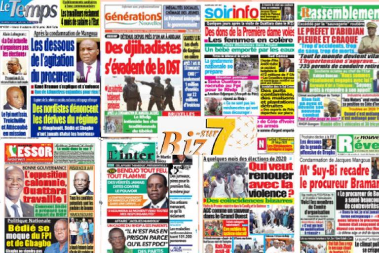 Le retour à Abidjan de Laurent Gbagbo au cœur de la titrologie de ce lundi