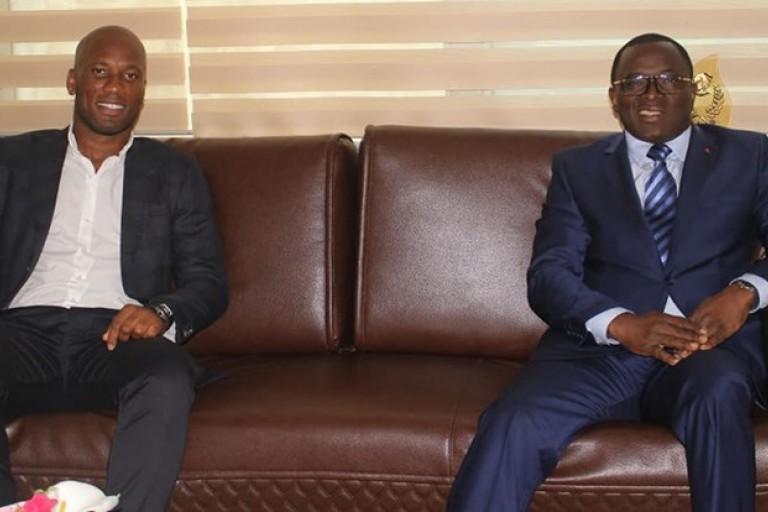 Ouattara a reçu Didier Drogba — Côte d'Ivoire