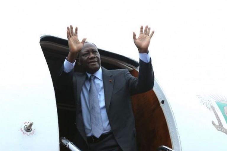 Alassane Ouattara s'est envolé pour un long périple à l'étranger