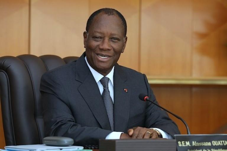 Alassane Ouattara, chef de l'Etat ivoirien