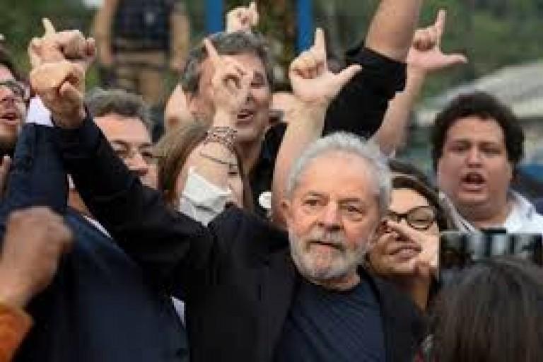 Luiz Inacio Lula Da silva, ancien  président du Brésil est sorti de prison