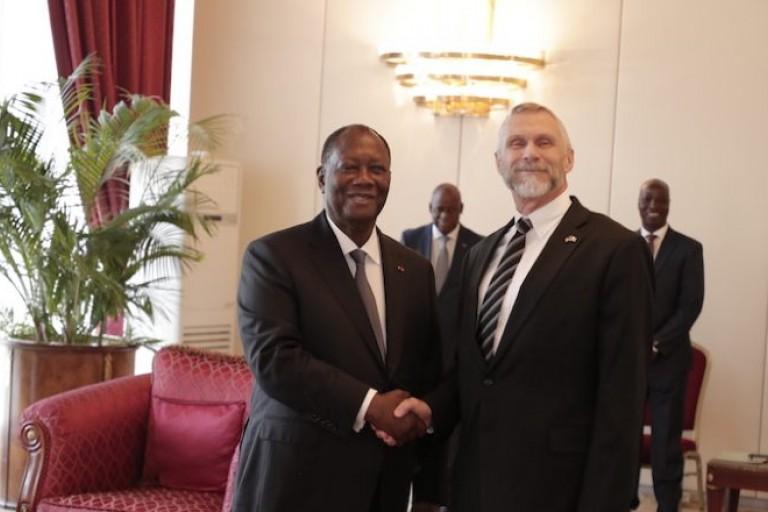 L'ambassadeur américain, S.E Richard Keith Bell a  été reçu par Bédié, hier.