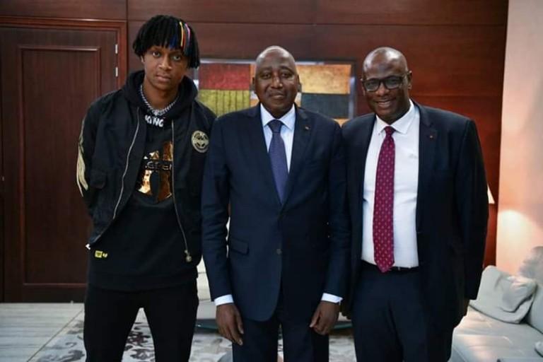 Safarel Obiang chez Amadou Gon