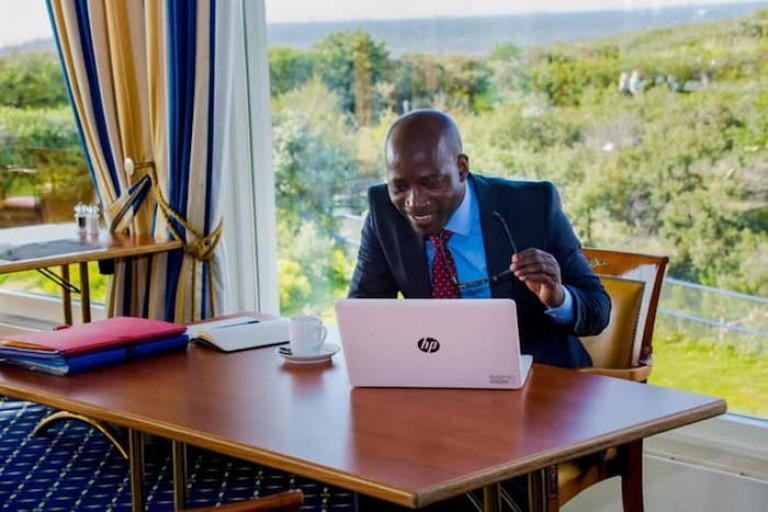 Charles Blé Goudé en meeting par vidéoconférence à Soubré