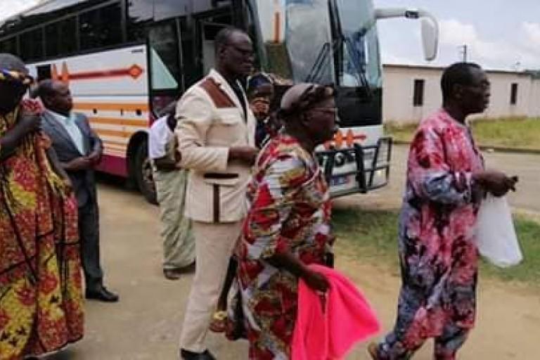Le vice-président du PDCI-RDA, Jacques Mangoua a reçu la visite d'une importante délégation de chefs Baoulé