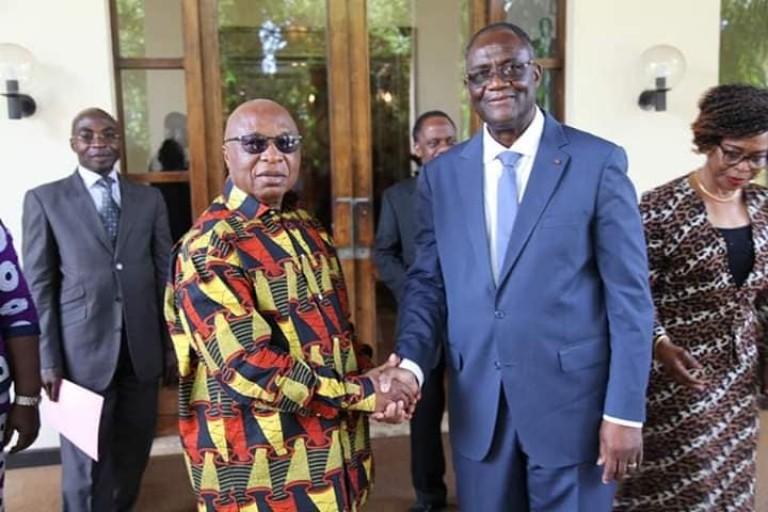 Maurice Kakou Guikahué (à droite) et Assoa Adou animeront conjointement une conférence de presse mercredi