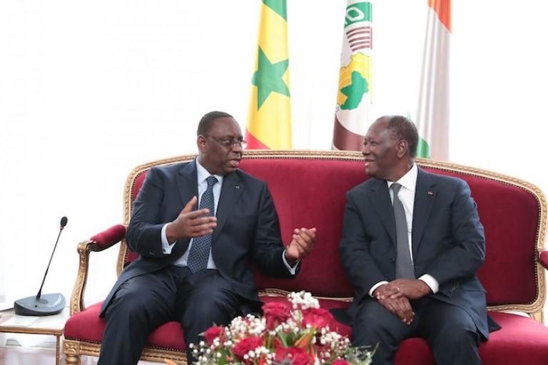 Les Présidents Macky Sall et Alassane Ouattara