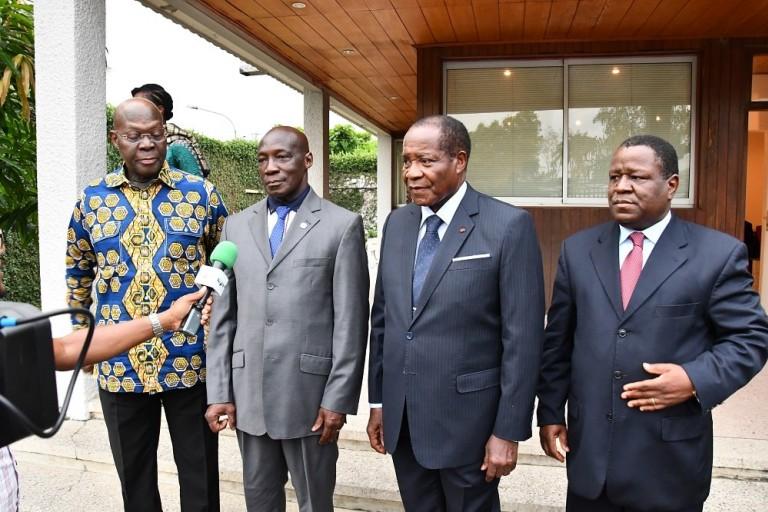 Après leur nomination, Michel Gueu, Bleu Lainé et Kouassi Yao reçus par Bédié