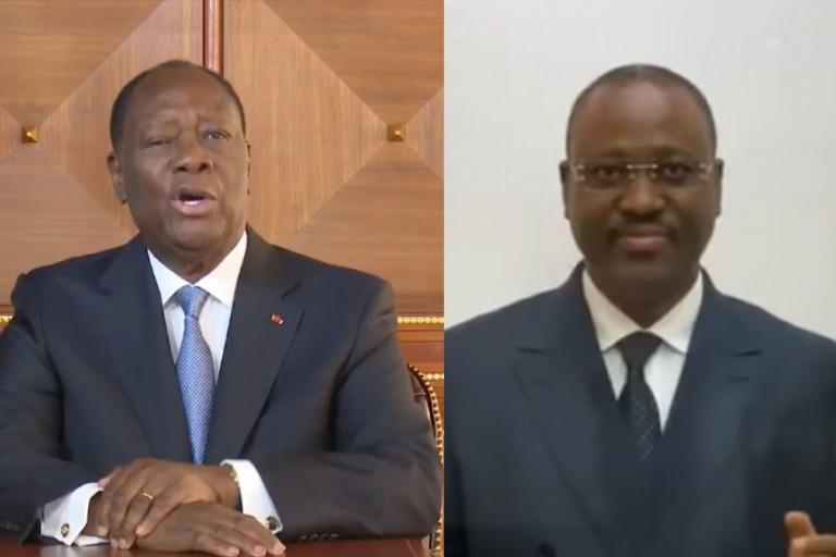 Guillaume Soro, à droite a été sans pitié pour son ancien mentor Alassane Ouattara