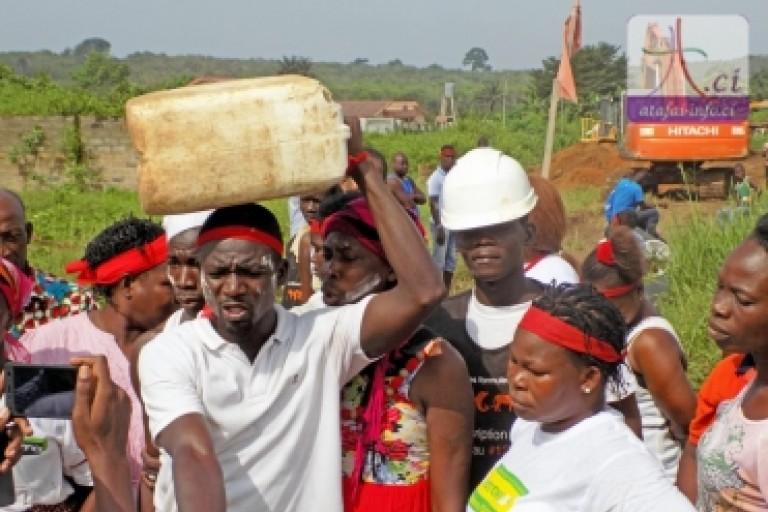 Bonoua : Les populations dans la rue pour réclamer de l'eau potable